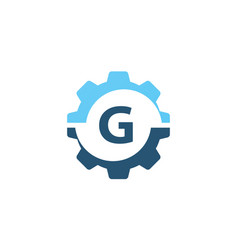 gear solution logo initial g vector image vector image