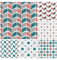retro style geometric patterns vector image