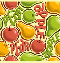 seamless pattern apples and pears vector image vector image
