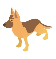 Shepherd dog icon cartoon style vector image