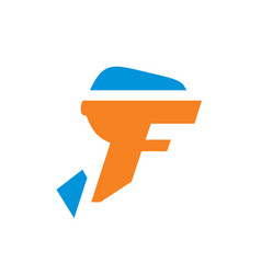 sign the letter f vector image