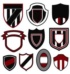 badge emblem shield set vector image