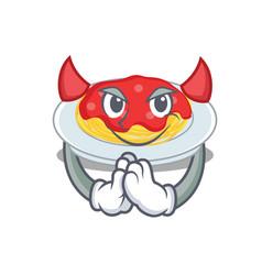 devil spaghetti character cartoon style vector image vector image