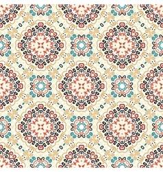 Floral Pattern Blue Brown Flower Elements vector image vector image
