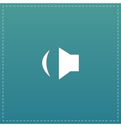 Sound flat icon vector image vector image