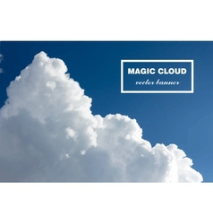 Abstract cloud banner vector