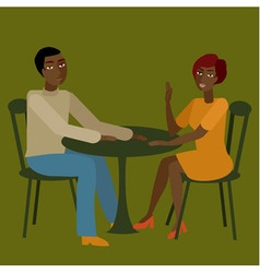 African couple having conversation vector