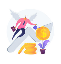 Angel investor abstract concept vector