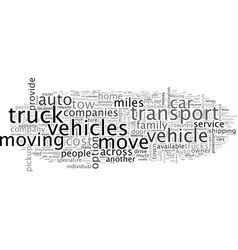 Auto transport companies provide consumers better vector