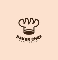 Baker chef logo vector