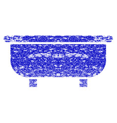 Bathtub grunge textured icon vector