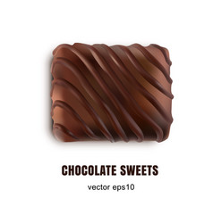 Beautiful creative chocolate sweets isolated on vector