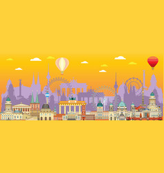 berlin skyline 6 vector image