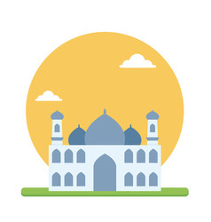 big mosque of muslim prayer to worship their god vector image