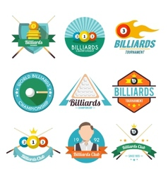 Billiard Label Set vector