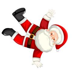 Break dancing santa clause vector