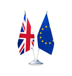brexit flags of britain and european union vector image