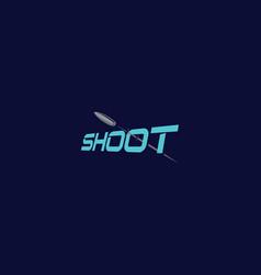 bullet shot logo icon vector image