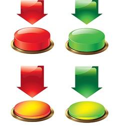 Button and arrow vector
