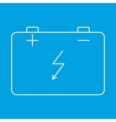 Car battery thin line icon vector