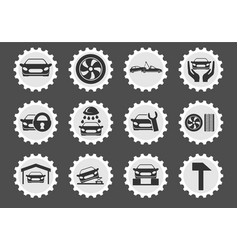 Car service maintenance icon set vector