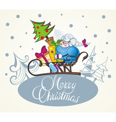 Christmas sheep vector image