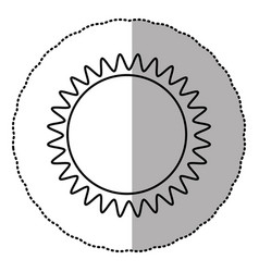 contour sticker sun icon vector image