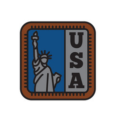 country badge collections symbol liberty of big vector image