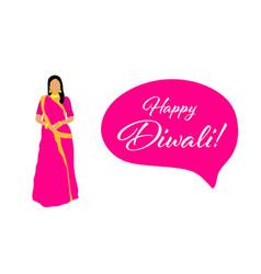 creative diwali festival template design happy vector image