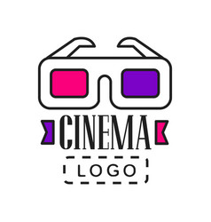 creative logo template for video or movie company vector image