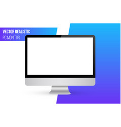 creative of render monitor vector image