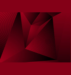 dark red abstract concept polygonal tech vector image