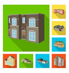 design of facade and housing logo vector image
