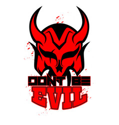 Devil mask sacred geometry can use for logo vector