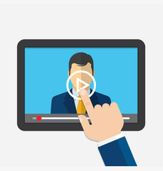 Distance learning webinar online conference vector