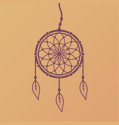 dreamcatcher design element isolated vector image