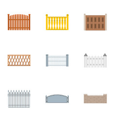 Enclosure icons set flat style vector