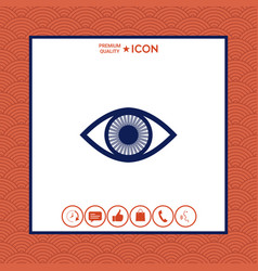 eye symbol icon with iris vector image