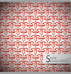 Eyes damask plus vintage seamless pattern vector