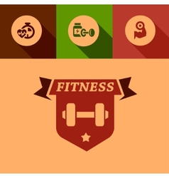 flat fitness design elements vector image