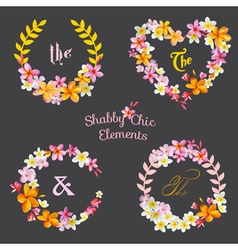 Flower banners and tags vector