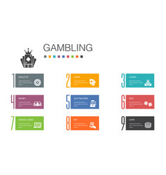 Gambling infographic 10 option line concept vector
