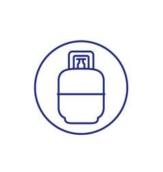 Gas lpg tank icon line vector