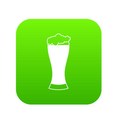 glass of beer icon digital green vector image