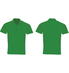 Green polo t shirt vector