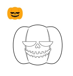 Halloween pumpkin coloring book Symbol for dreaded vector