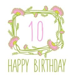 Happy birthday card invitation with Set vector