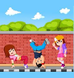 hip hop dancer cartoon vector image