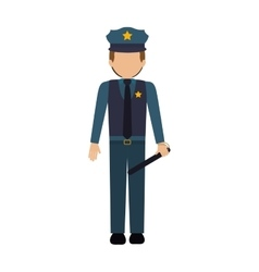 Isolated policeman design vector image