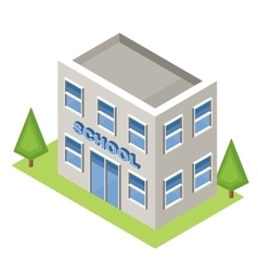 Isometric school on a white background vector